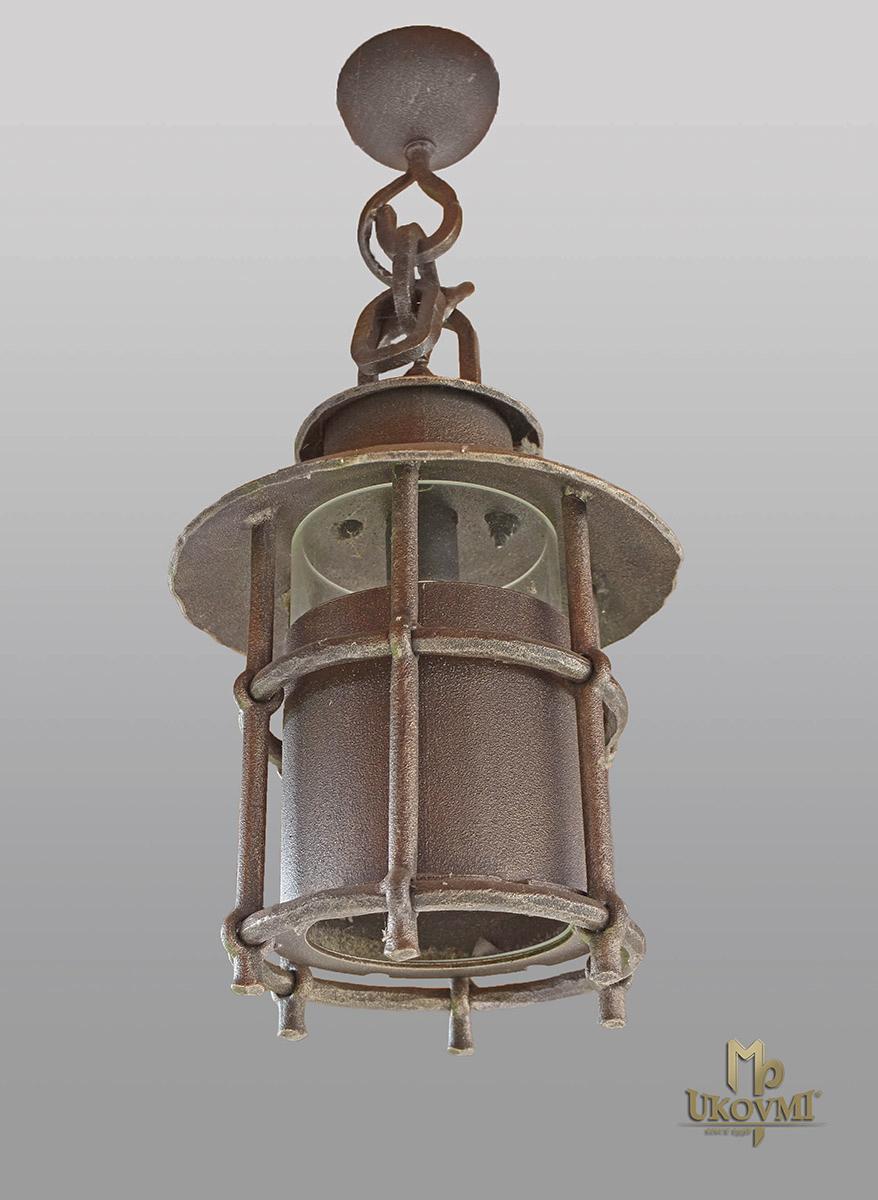 Hängeleuchte – geschmiedete Lampe KLASSIK mit Schirm – Außenleuchte