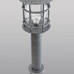 Sockelleuchte – geschmiedete Lampe KLASSIK mit Schirm – Außenleuchte
